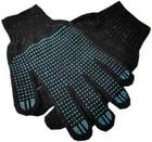 Перчатки с ПВХ Точка, черные